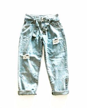 Vintage Jeans a vita alta multicolore