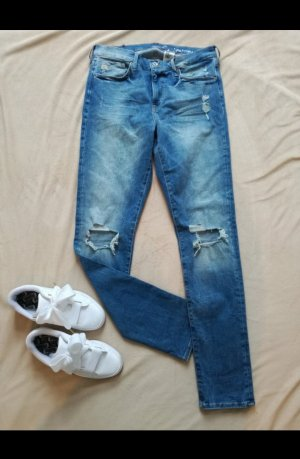 Blue Jeans, Hose aus Distressed Denim, Shaping - Größe 32/32