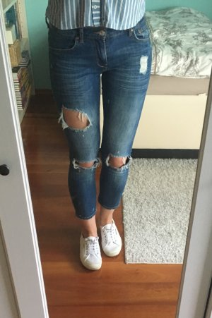 Blue Jeans Hose Ripped Destroyed Used Look ZARA 34
