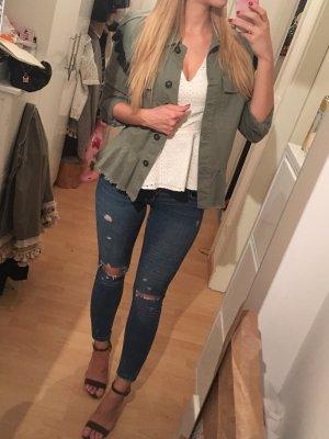 Blue Jeans im Used Look von Zara 36
