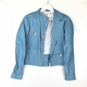 Blue Jil Sander Leather Jacket