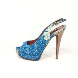 Blue Missoni Evening Shoe