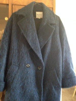 Blue Mohair Oversized Jacket