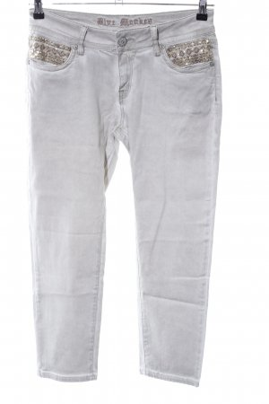 Blue Monkey 7/8 Length Trousers light grey casual look