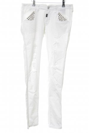 Blue Monkey Biker Jeans white-silver-colored casual look