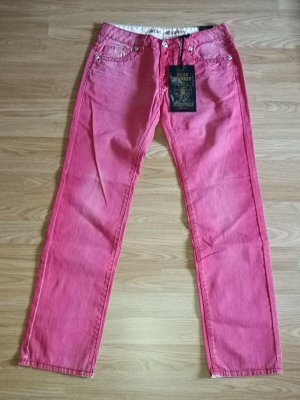 Blue Monkey Low Rise Jeans bright red cotton