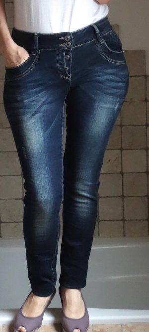 Blue Monkey Damen Jeans Lucy 1341, Markenjeans, Skinny, superbequem