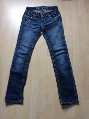 Blue Monkey Low Rise Jeans blue cotton