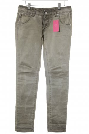 Blue Monkey Low-Rise Trousers sage green casual look