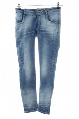 Blue Monkey Jeans vita bassa blu stile casual
