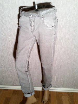 Blue Monkey Jeans Gr 31/ 32 ( 42) Grau Knopfleiste außen