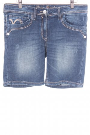 Blue Monkey Shorts blau Farbverlauf Bleached-Optik