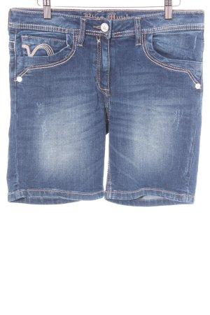 Blue Monkey Shorts blau Farbverlauf Bleached-Optik