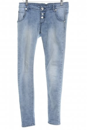 Blue Monkey Skinny Jeans blassblau Blumenmuster schlichter Stil