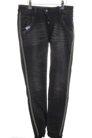Blue Monkey Skinny Jeans schwarz-silberfarben Casual-Look