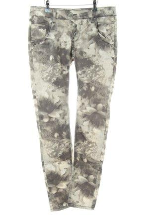 Blue Monkey Skinny Jeans khaki Allover-Druck Casual-Look