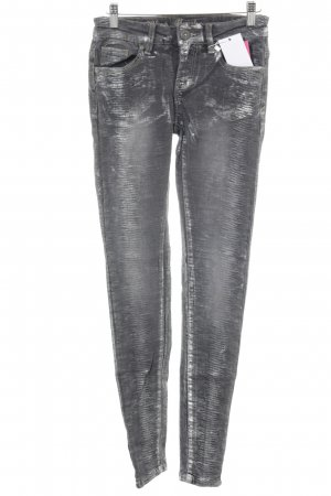Blue Monkey Skinny Jeans silberfarben-grau Casual-Look