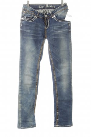 Blue Monkey Skinny Jeans white-steel blue flecked casual look