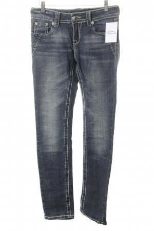 Blue Monkey Slim Jeans blue rockabilly style