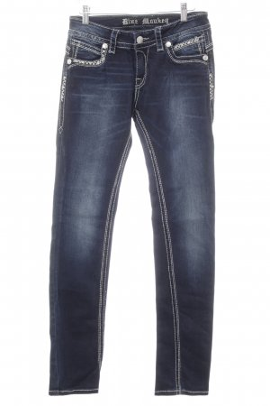 Blue Monkey Slim Jeans dunkelblau-hellgrau Casual-Look