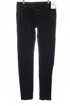 Blue Monkey Slim Jeans schwarz-anthrazit Used-Optik
