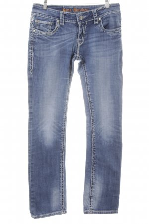 Blue Monkey Slim Jeans stahlblau-graublau Jeans-Optik
