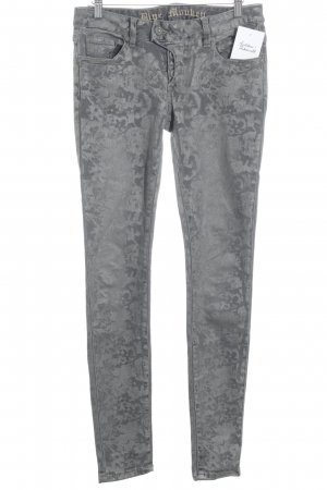 Blue Monkey Slim Jeans taupe-grey flower pattern casual look
