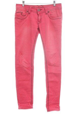 Blue Monkey Slim Jeans ziegelrot Casual-Look