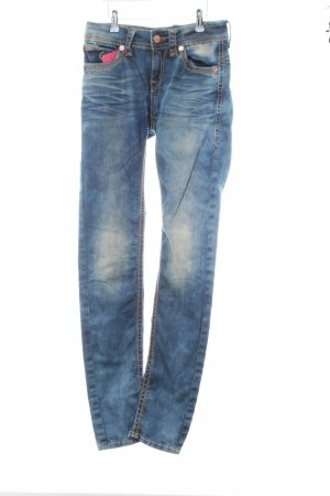 Blue Monkey Straight-Leg Jeans blau Casual-Look