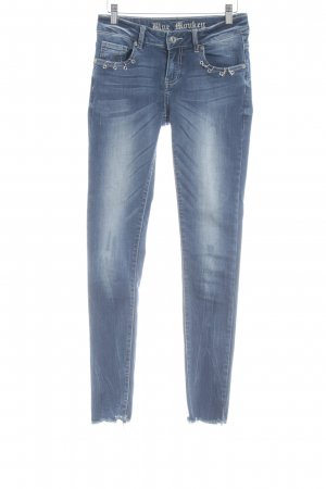 Blue Monkey Stretch Jeans dunkelblau extravaganter Stil