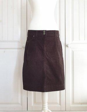 blue motion 40 langer Rock Cord Kord jeans braun Bleistiftrock Businessrock Bürorock Kleid