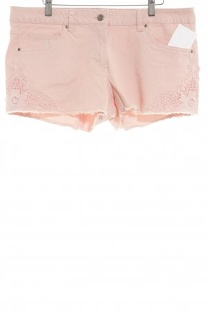 Blue Motion Denim Shorts pink romantic style