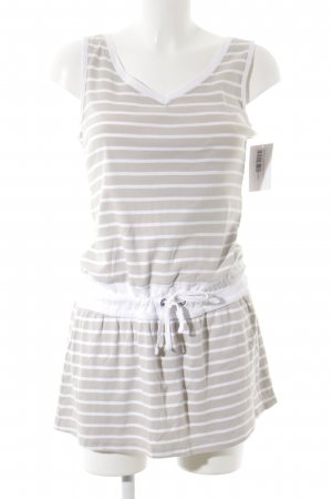 Blue Motion Jersey Dress white-oatmeal striped pattern athletic style