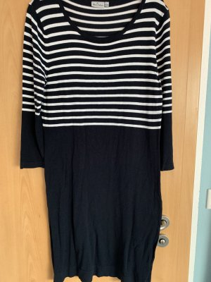 Blue Motion Longsleeve Dress white-dark blue