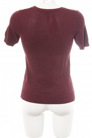 Blue Motion Short Sleeve Sweater red casual look