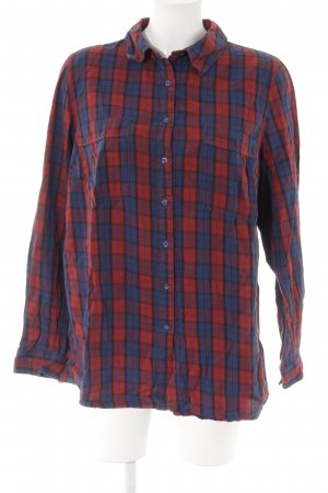Blue Motion Long Sleeve Shirt check pattern casual look