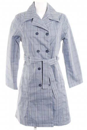 Blue Motion Raincoat check pattern casual look