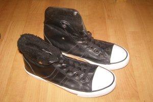 BLUE MOTION schwarze Sneaker zum umkrempeln