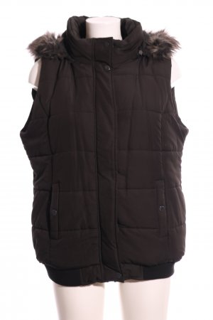 Blue Motion Quilted Gilet brown quilting pattern casual look
