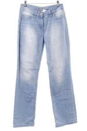 Blue Motion Straight-Leg Jeans kornblumenblau Washed-Optik