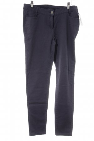 Blue Motion Stretch Trousers dark blue casual look