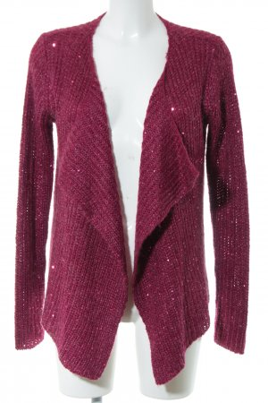 Blue Motion Knitted Cardigan red casual look