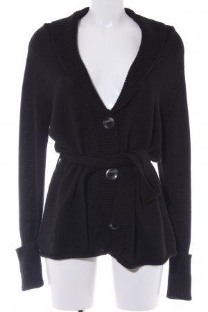 Blue Motion Knitted Cardigan black fluffy