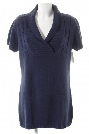 Blue Motion Strickkleid dunkelblau Zopfmuster Casual-Look