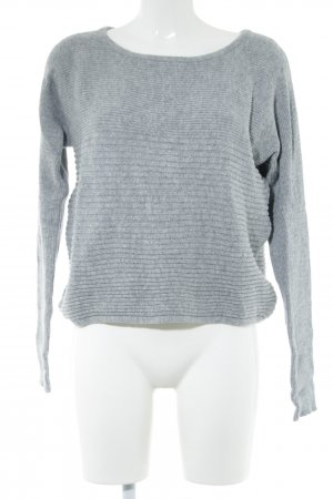 Blue Motion Knitted Sweater light grey cable stitch casual look