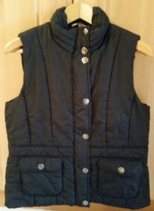 Blue Motion Quilted Gilet black
