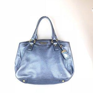 Blue Prada Shoulder Bag