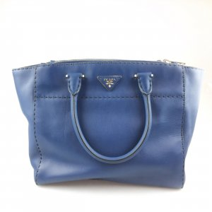 Blue Prada Shoulder Bag