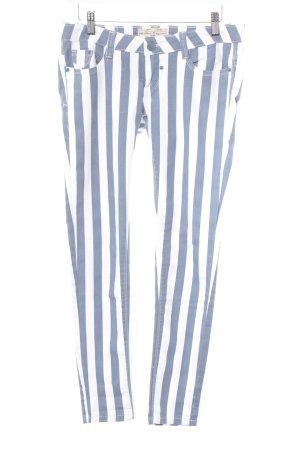 Blue Rags Skinny Jeans weiß-stahlblau Streifenmuster Casual-Look