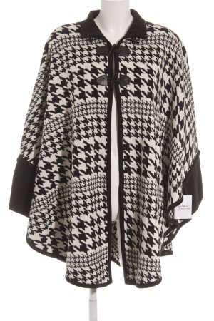 Blue Seven Knitted Poncho black-natural white houndstooth pattern casual look